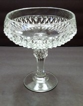 Indiana Glass Diamond Point Footed Compote Dish/Bowl - $12.00