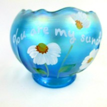 Fenton Rose Bowl Iridescent/Carnival You Are My Sunshine Hand P. By Pam... - $64.35