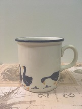 Vintage Cipa Handpainted Blue Ducks Coffee Cup Made In Italy Cottage Kit... - $9.00