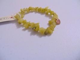 "Macy's 6"" Semi-Precious Olive Jade Stone Stretch Bracelet J323 - ₨1,131.24 INR"
