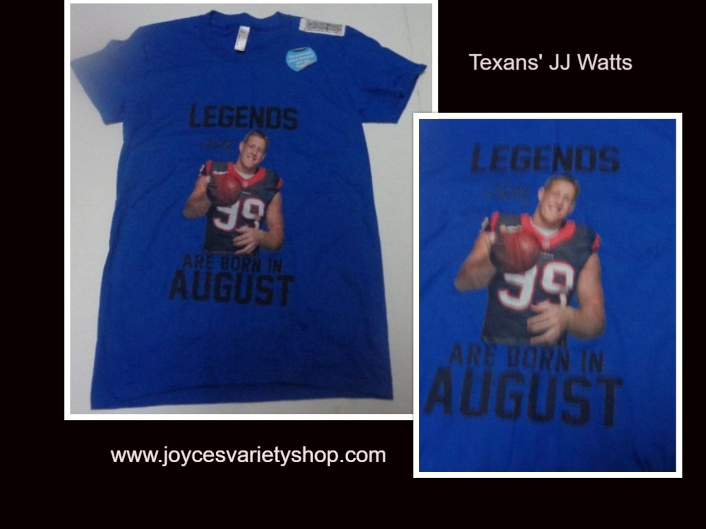 Texans JJ Watts Girl's T-Shirt LEGENDS ARE BORN IN AUGUST American Apparel
