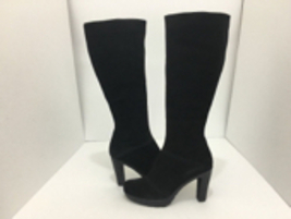 La Canadienne Martine Black Suede Women's Knee High High Heel Platform Boots 9.5 - $106.21