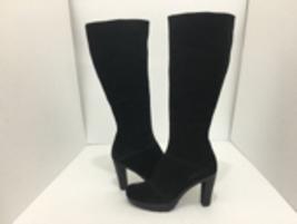 La Canadienne Martine Black Suede Women's Knee High High Heel Platform B... - $106.21