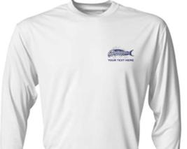 6 Personalized Custom Printed Dri Fit Longsleeve SPF Fishing Tee Sun Shirts  image 3