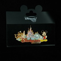 Authentic DL Paris Parkland Mickey Castle Space Mountain Large Disney Pi... - $39.59