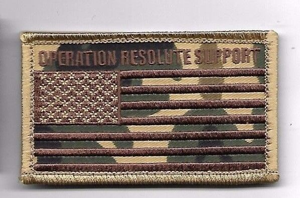 Primary image for OPERATION RESOLUTE SUPPORT CAMO  DESERT FLAG 2 X 3  EMBROIDERED PATCH HOOK LOOP