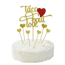Taco Bout Love Cake Topper for Bachelorette Birthday Baby Shower Bridal ... - $16.88