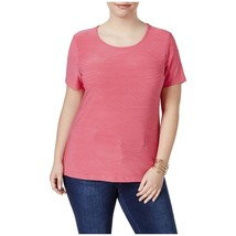 JM Collection Womens Plus Jacquard Textured Casual Top in Steel Rose, 1X - $17.13