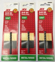 "Ace 2000024 2 Piece 5/64"" Heavy Duty Drill Bit For Metal / Wood 3 Packs - $2.97"