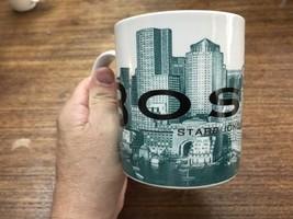 Starbucks Barista Skyline Series 1 Mug 2002 BOSTON Bean Town 16 oz Green - $16.15