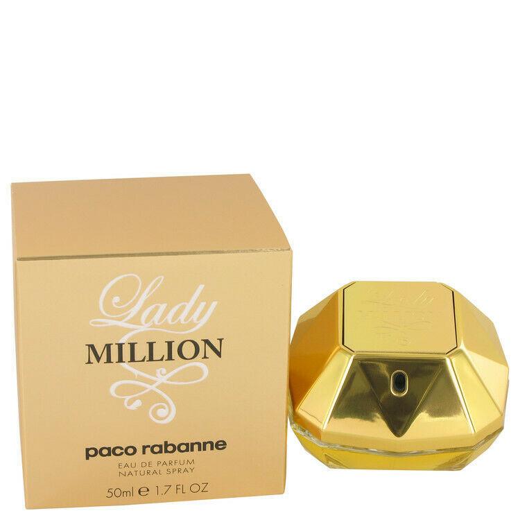 Lady Million by Paco Rabanne Eau De Parfum Spray 1.7 oz for Women - $100.00