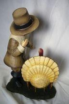 Bethany Lowe Pilgrim boy Feeding Thanksgiving Turkey image 3