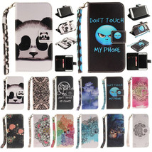 Leather Smart Patter Wallet & Hand Rope Case Cover for Samsung Galaxy S8 S8 Plus - $6.25