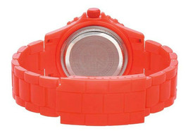EOS New York Unisex Marksmen Plastik Orange Quarz Analog Uhr #359SORG Neu Ovp image 2