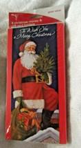 American Greetings 8 Christmas card moneyholders + 8 envelops, Santa - $5.00