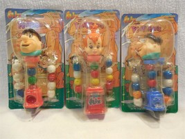 Flintstones 1997 Flix Collectible Gumball Machine Dispenser Set of 3 MOC - $9.95