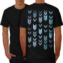 Arrow Cool Design Fashion Shirt Shape Art Men T-shirt Back - $12.99+
