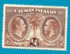 Cayman Islands (Mint) Stamp (1932) King William IV & King George V  Scot... - $2.99