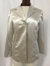 Chico's Women's Blazer Metallic Silver 1 Button Blazer Chico's Size 0 (4) - $22.80
