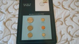 Coin sets of all nations, Republic of Singapore, 6 coins, postmark 1984 - $12.37
