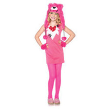ENCHANTED COSTUMES PINK SWEETHEART BEAR GIRLS HALLOWEEN COSTUME SIZE MED... - $26.76