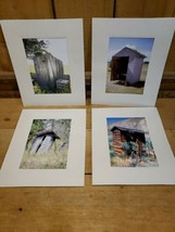 """Lot of 4 Color Photographs of  Abandoned Outhouses Around the Country 8""""... - $19.01"""