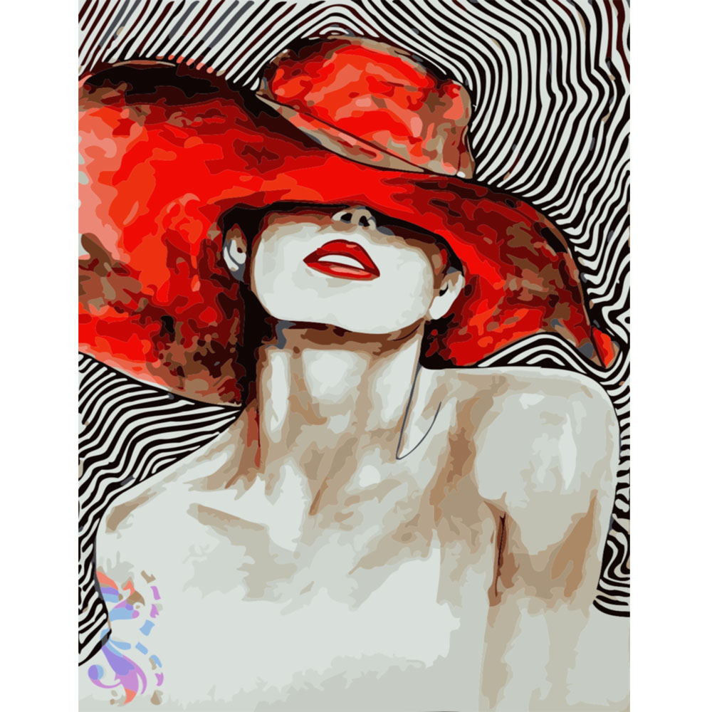 """Sexy Girl 16X20"""" Painting By Number Kit DIY Acrylic Painting on Canvas Frameless"""