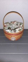 Longaberger 1998 Mother's Day Rings & Things Basket with Tie-On - Pink W... - $19.99