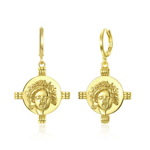 Personalized Monogram Blank Disc Drop Circle Earrings for Fashion Women ... - $11.75