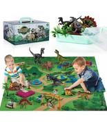 TEMI Dinosaur Toy Figure w/ Activity Play Mat & Trees, Educational Reali... - $19.39