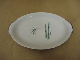 Sango Vintage Large Platter 14 1/4in Oval Japan Bamboo Knight China - $59.10