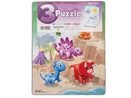 3 Pack, Pre-school Puzzles - $8.07