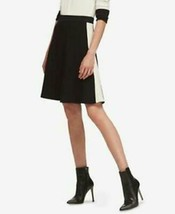DKNY Skirt A Line Black White Colorblock Sz S NEW NWT - $39.99