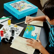 Art Making with MoMA Storytelling Art Kit Stencils Paint Brushes Jacob Lawrence image 5