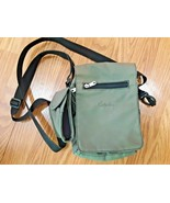 CABELAS travel hand Bag organizer crossbody nylon green - $22.72