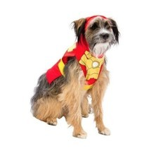 Superhero Iron Man Marvel Dog Puppy Pet Halloween Costume Sz Large - Shi... - €9,93 EUR