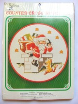 Santa Claus Down Chimney Christmas Snow NEW Counted Cross Stitch Kit 7 i... - $16.99