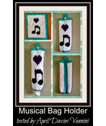 Musical Bag Holder mini c2c Crochet Pattern graph with written instructions - $4.50