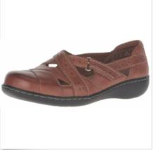 CLARKS Women's Ashland Spin Q Slip-on Loafer, Tan Oily, Size 8 N - $49.49