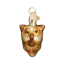 OWC MINIATURE HALLOWEEN OWL BIRD GLASS HALLOWEEN ORNAMENT 26027 C - $8.88