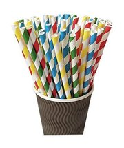 Gentle Meow 100 Pack Assorted Colors Series Disposable Drinking Straws B... - $17.23