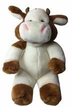 Vtg Soft Classics Cow Plush Holstein Brown & White Cow Toy 1995 Toys R U... - $23.71