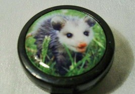 BABY POSSUM Badge ID Reels Large Face plastic holder work card pull Blac... - $4.94