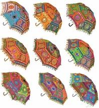 Handmade Embroidered Cotton Ladies Umbrella Parasol Wedding Decoration S... - $57.25