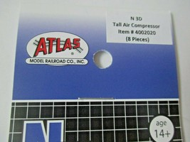 Atlas # 4002020 Tall Air Compressor 8 Pack 3D Printed Accessories N-Scale image 2