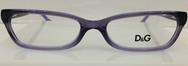 D&G 1189 1674 Transparent Purple Plastic Eyeglasses Dolce & Gabbana 52-1... - $95.88