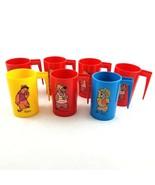 Vintage 1971 Hanna Barbera Hair Bear Bunch Plastic Mugs Cups Lot Set of 7 - $49.40