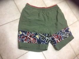 men Greg Norman  Swim Trunks Shorts Swimwear  sz Lrg Olive Drab - $11.29