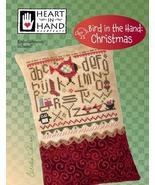 Bird In Hand: Christmas cross stitch chart Heart in Hand - $7.65