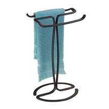 InterDesign Axis Towel Holder for Bathroom Vanities - Bronze - $17.86